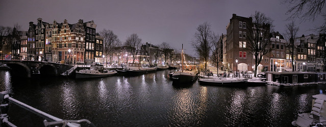 Peace has returned in Amsterdam after snow storm Darcy