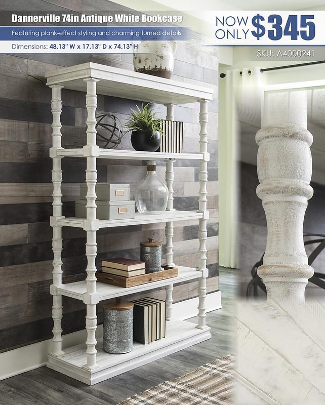 Dannerville Antique White 74in Bookcase_A4000241