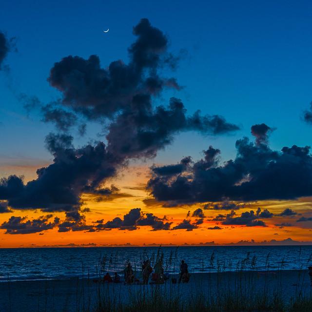 Sunset Twilight and Moonrise