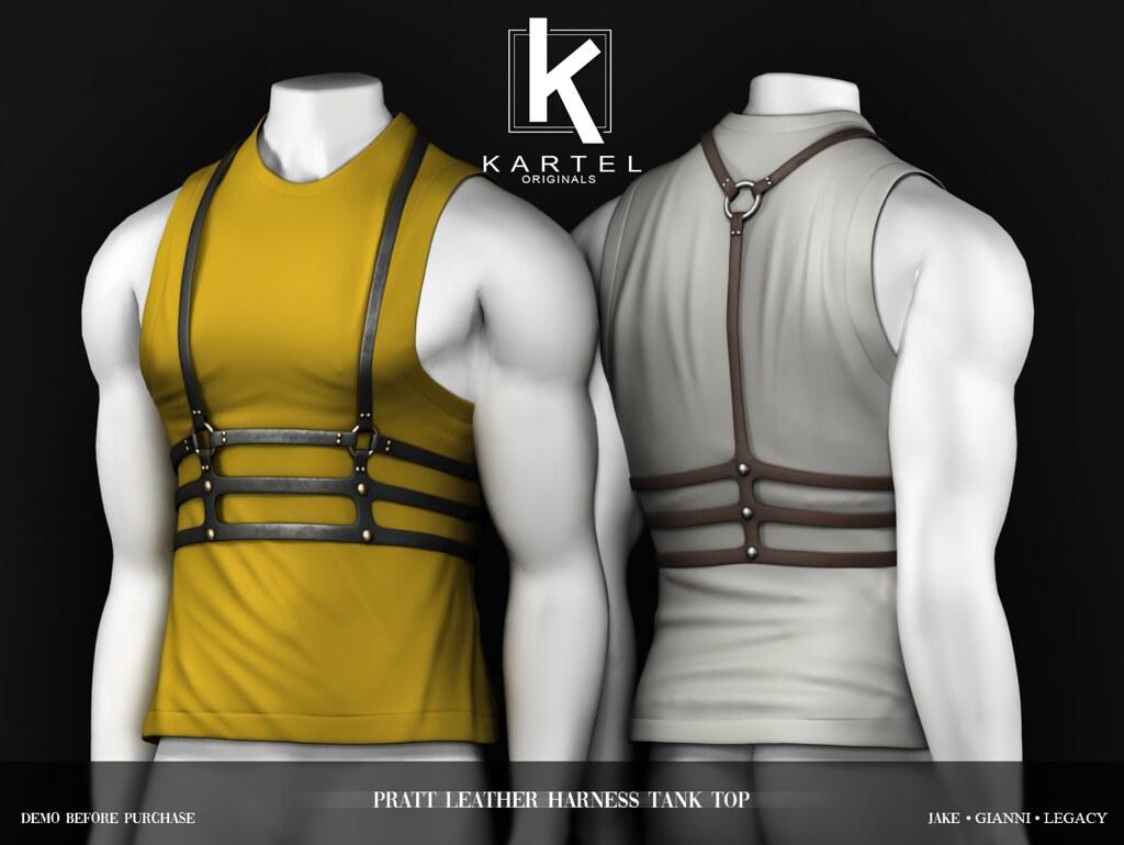 Pratt Leather Harness Tank Top @ EQUAL10