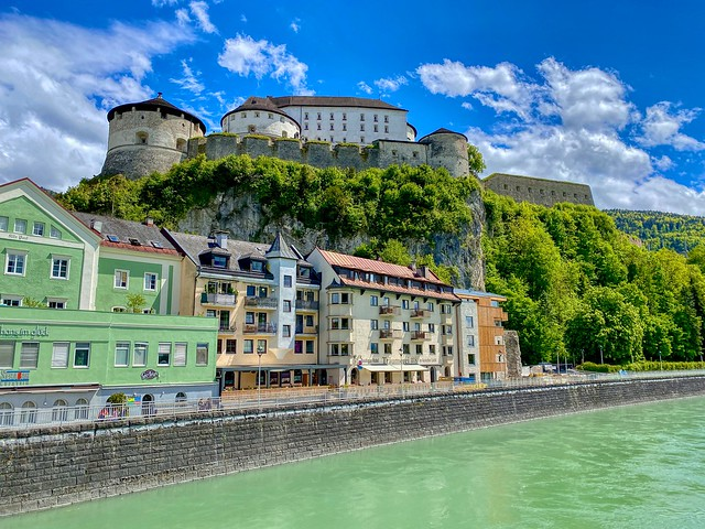Kufstein by the river Inn with Fortress in Tyrol, Austria