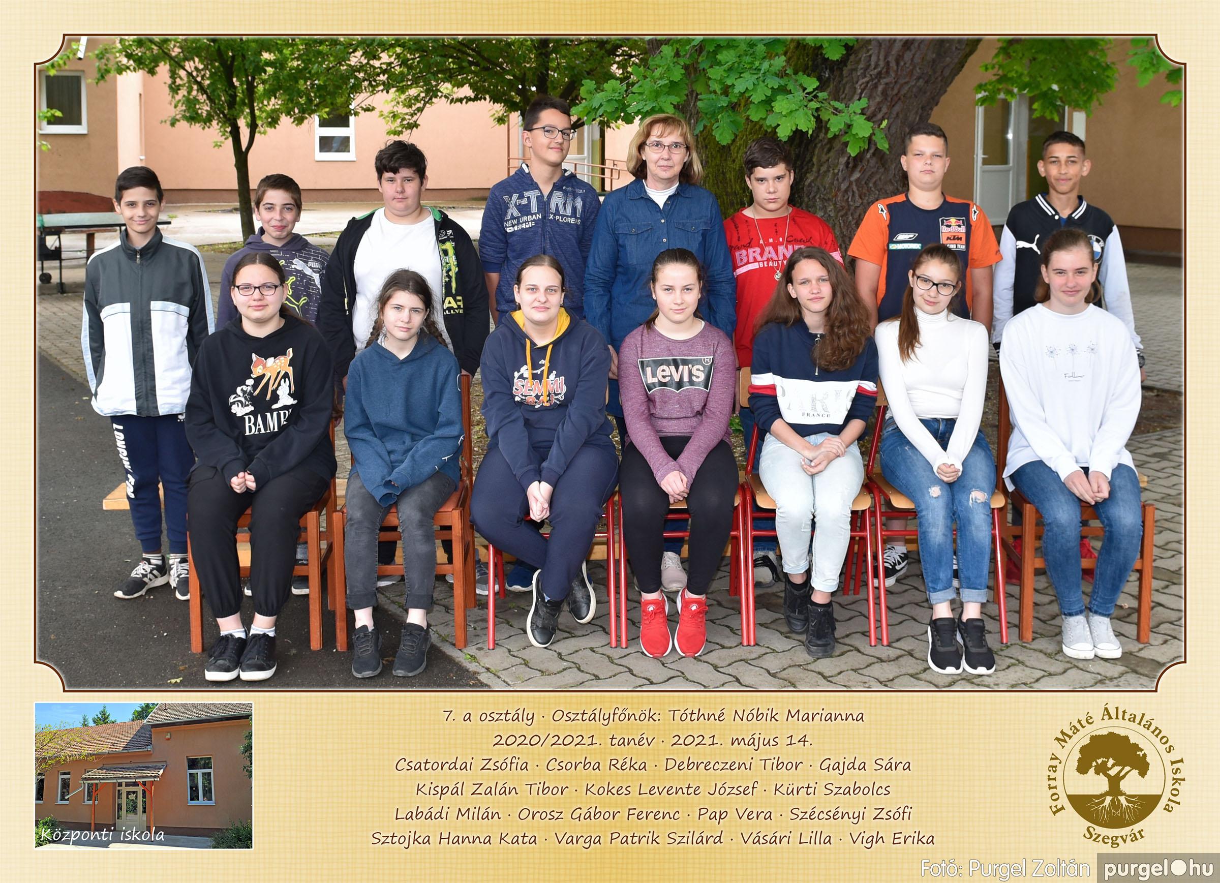 2021.05.13-06.12. 007 Forray Máté Általános Iskola osztályképek 2021. 7.a osztály - Fotó:PURGEL ZOLTÁN©.jpg