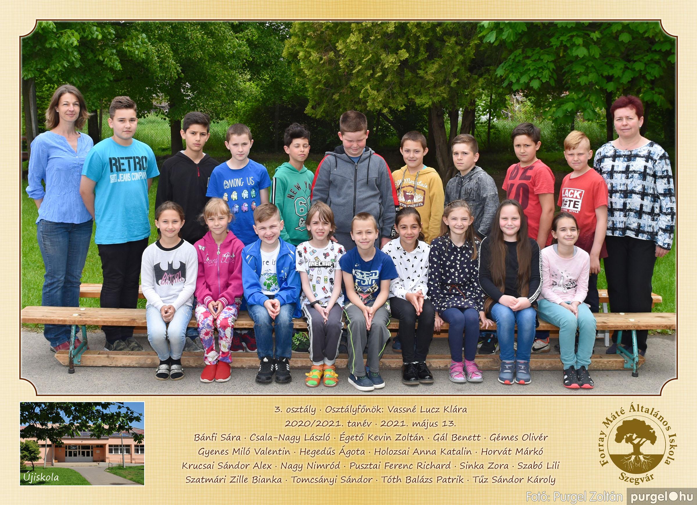 2021.05.13-06.12. 003 Forray Máté Általános Iskola osztályképek 2021. 3. osztály - Fotó:PURGEL ZOLTÁN©.jpg