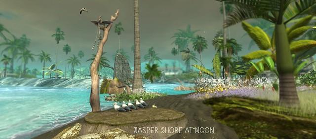Jasper shore at Noon