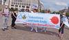 Nein zur radioaktiven Verseuchung des Pazifiks - Demonstration am Brandenburger Tor