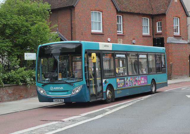 Arriva Kent Thameside / Arriva Southern Counties . 4022 GN58BUO . High Street , Colchester , Essex . Wednesday 26th-May-2021 .
