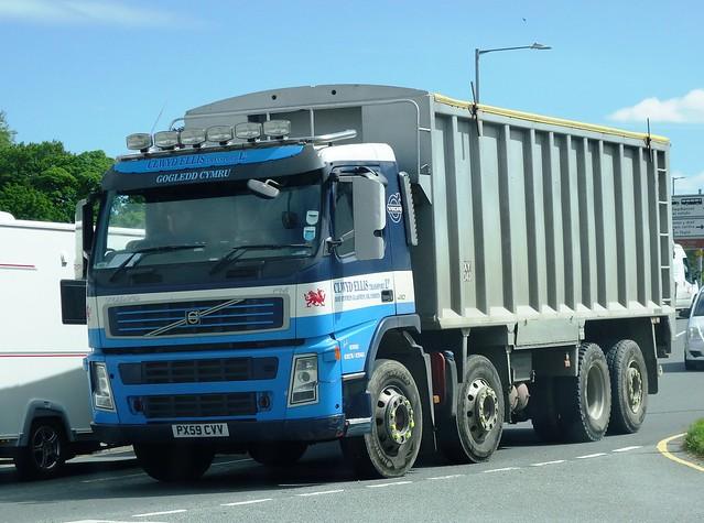 Clwyd Ellis Transport (Cymru) Volvo FM410 PX59 CVV