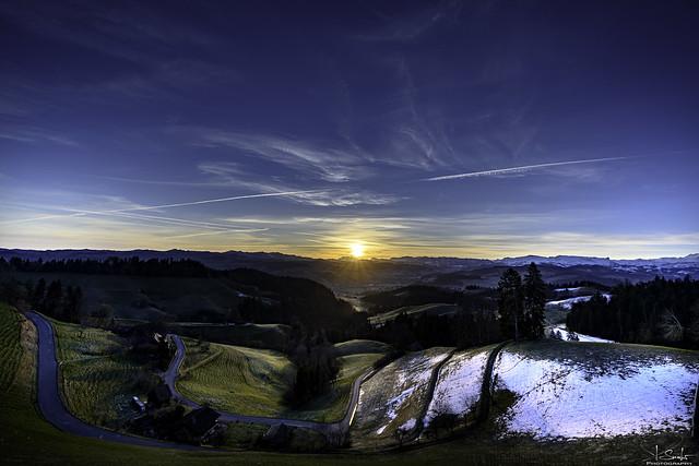 Sunrise feeling in Moosegg - Lauperswil - Bern - Switzerland