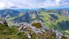 Views over the Glyderau Range from Pen yr Ole Wen, Snowdonia, Wales
