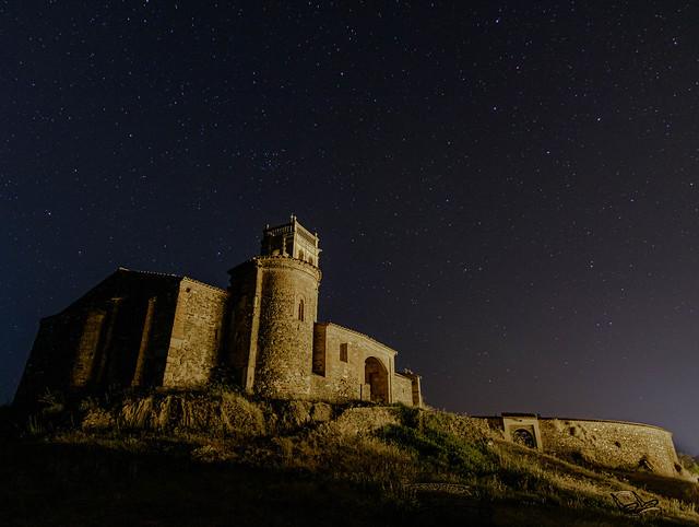 Mezquita y plaza de toros de Almonaster la Real (Huelva)