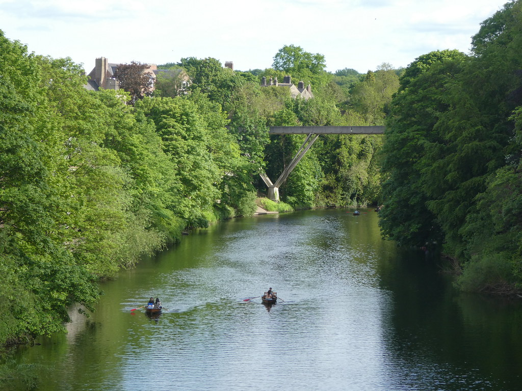 Rowing boats on the River Wear in Durham