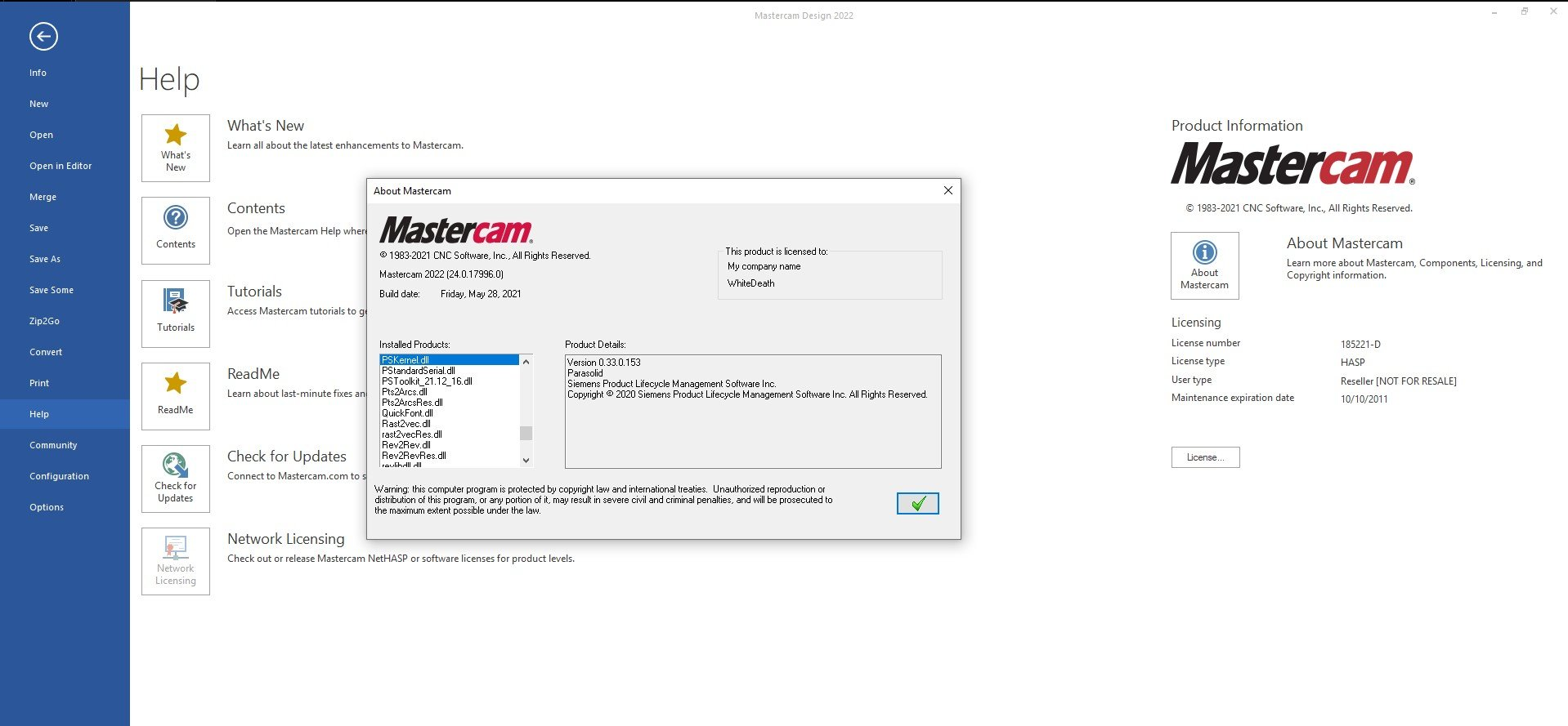 Working with Mastercam 2022 v24.0.17996.0 full
