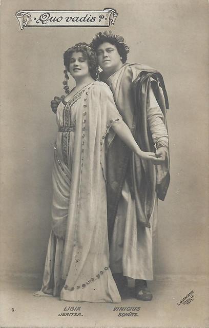Maria Jeritza as Lygia and Theodor Schütz as Vinicius in Quo Vadis?