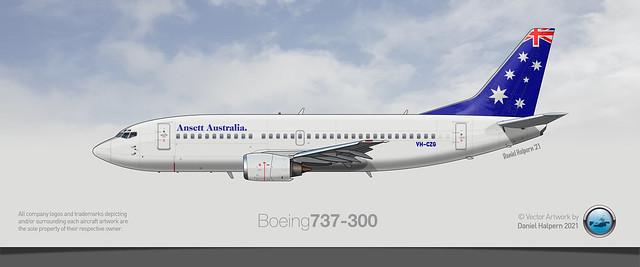 ANSETT AUSTRALIA Boeing 737-300