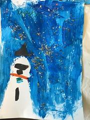 Winter snowman art, Tūranga