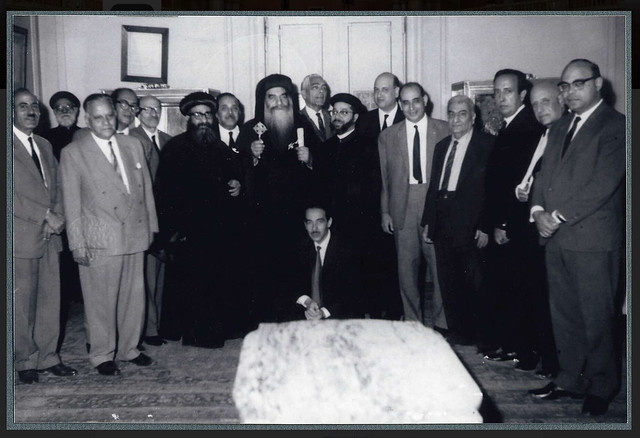 Dr Ragheb Moftah - Dr Shaker Bassilious with HH Pope Kyrellos - 1960s