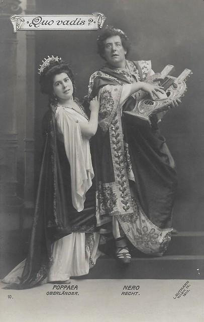 Mr. Recht (Nero) and Helene Oberländer (Poppaea) in Quo Vadis?