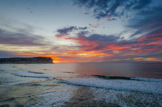 A winters sunrise at the seaside