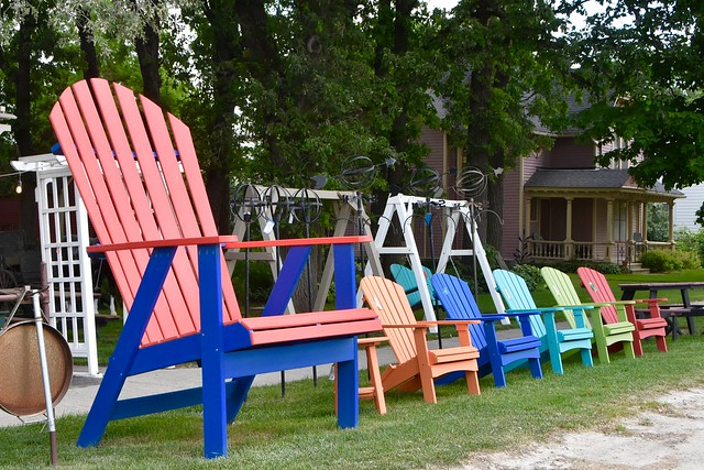 Colorful chairs - Lime Springs, Iowa