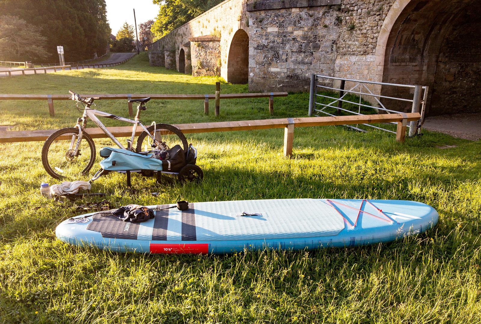 No car paddle boarding trip