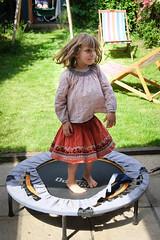 Margot on the trampoline