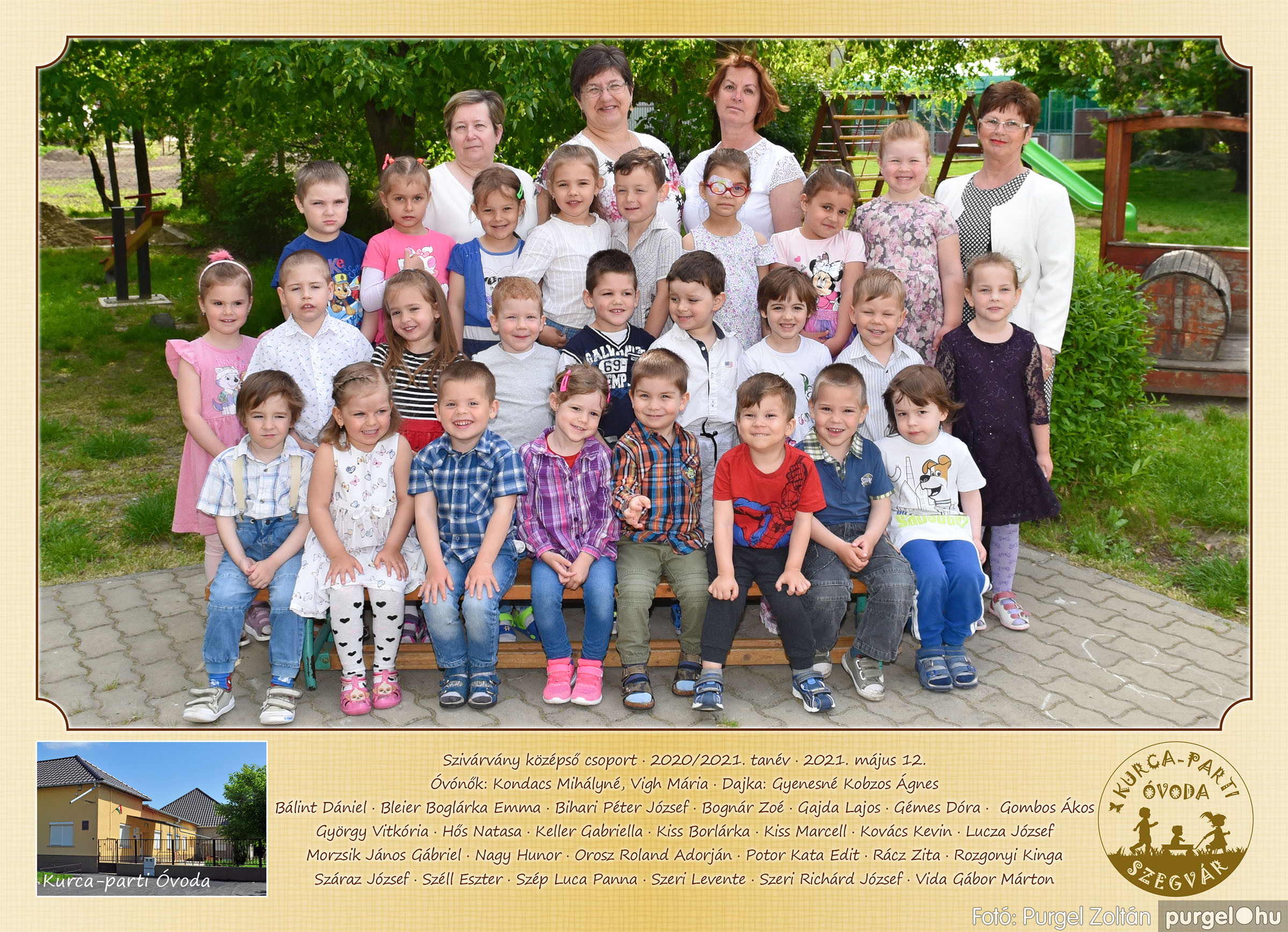 2021.05.12. 007 Kurca-parti Óvoda csoportképek 2021. - Fotó:PURGEL ZOLTÁN© Szivárvány csoport.jpg