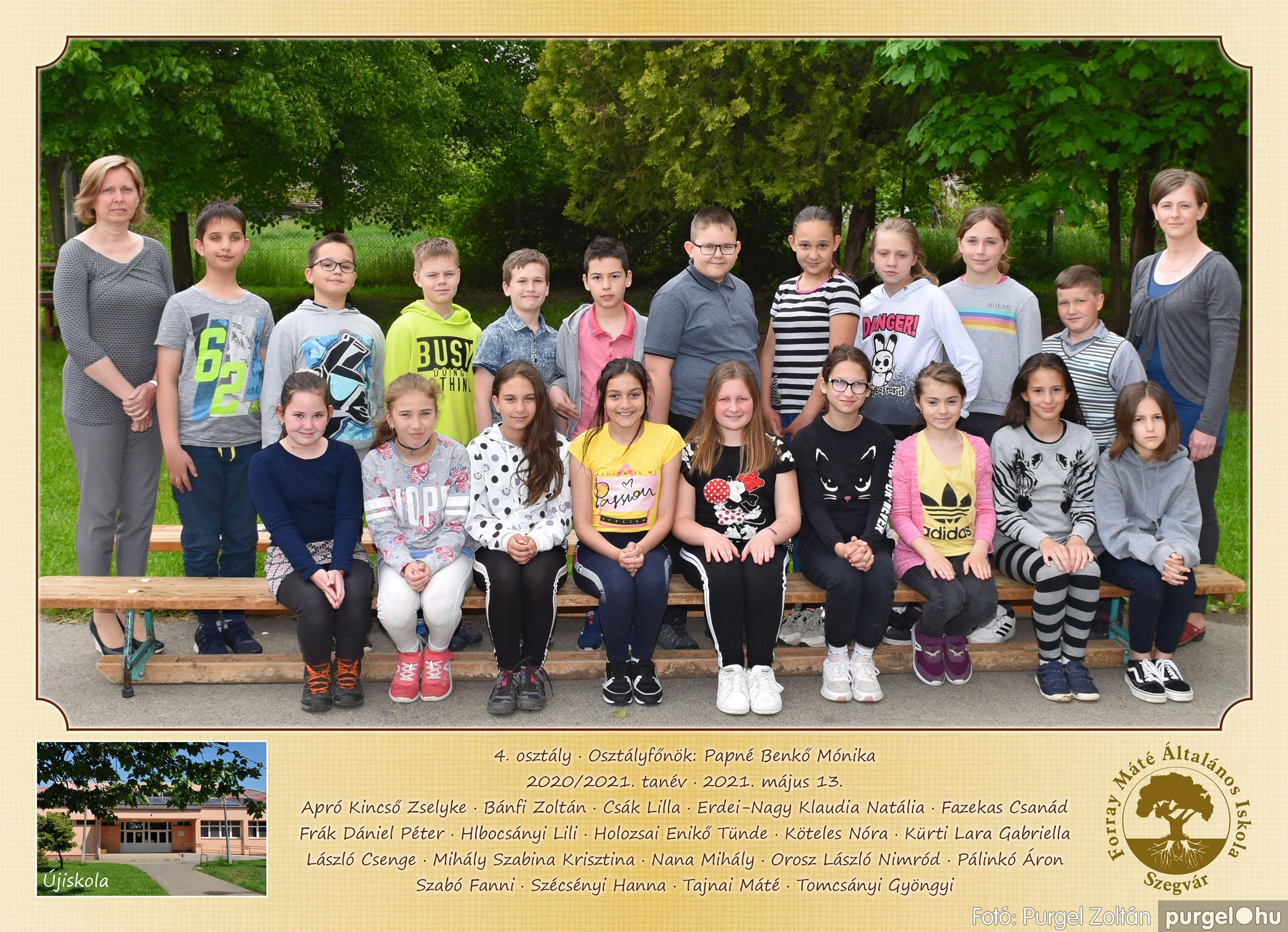 2021.05.13-06.12. 004 Forray Máté Általános Iskola osztályképek 2021. 4. osztály - Fotó:PURGEL ZOLTÁN©.jpg