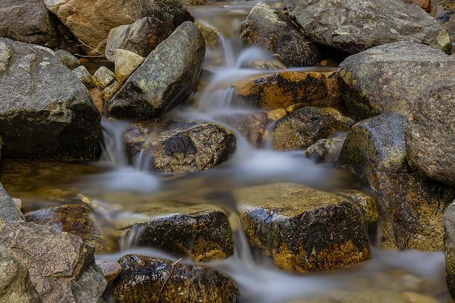Cascades in La Barranca, Navacerrada, Madrid, Spain