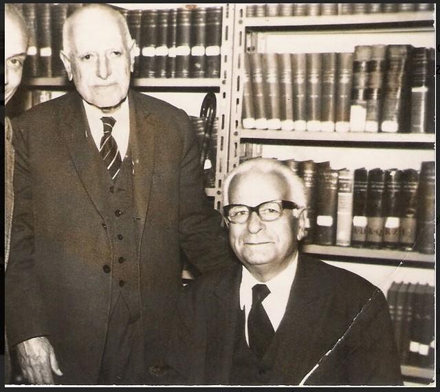 Ragheb Moftah poses next to his close friend, renowned Coptologist Dr. Aziz Atteya 1980
