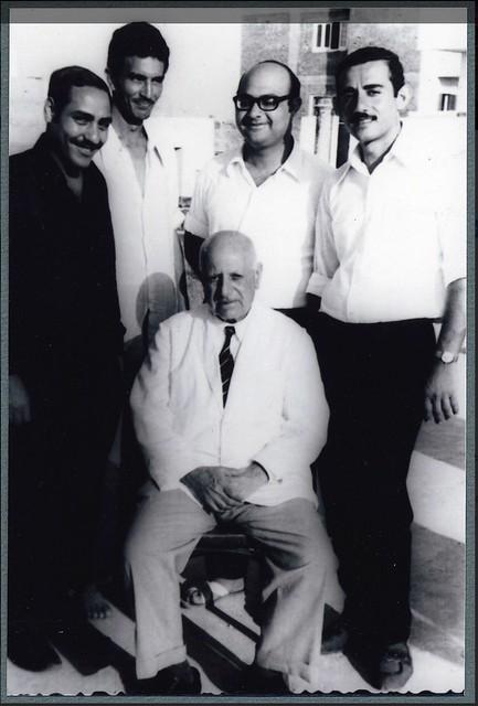 Ragheb Moftah and four choir members in Abu-Kir Alexandria ca. 1960s