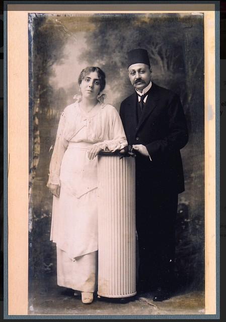 Farida Moftah Fahmy Ragheb Moftah's elder sister and her husband Dr. Ibrahim Bey Fahmy