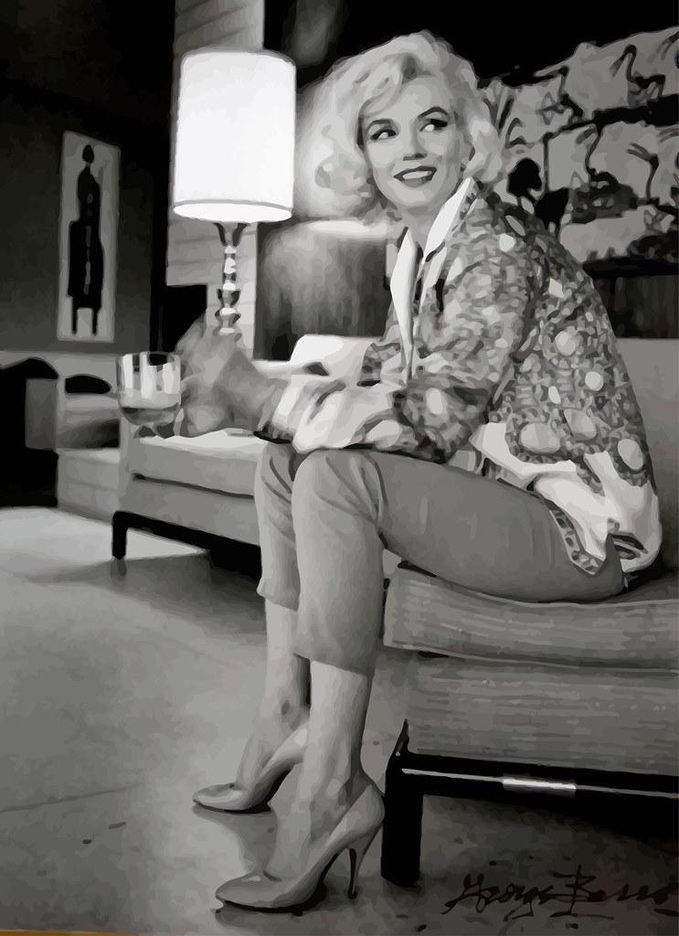 Marilyn Monroe fotografiado por George Barris para la revista Cosmopolitan , Los Ángeles, verano de 1962