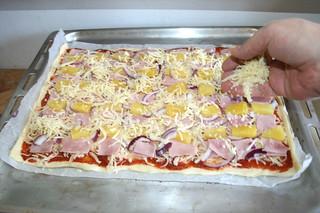 14 - Dredge with more cheese / Mit mehr Käse bestreuen