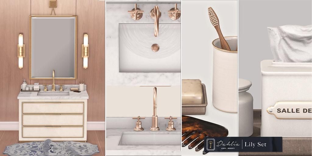 Dahlia – Lily Bathroom Set