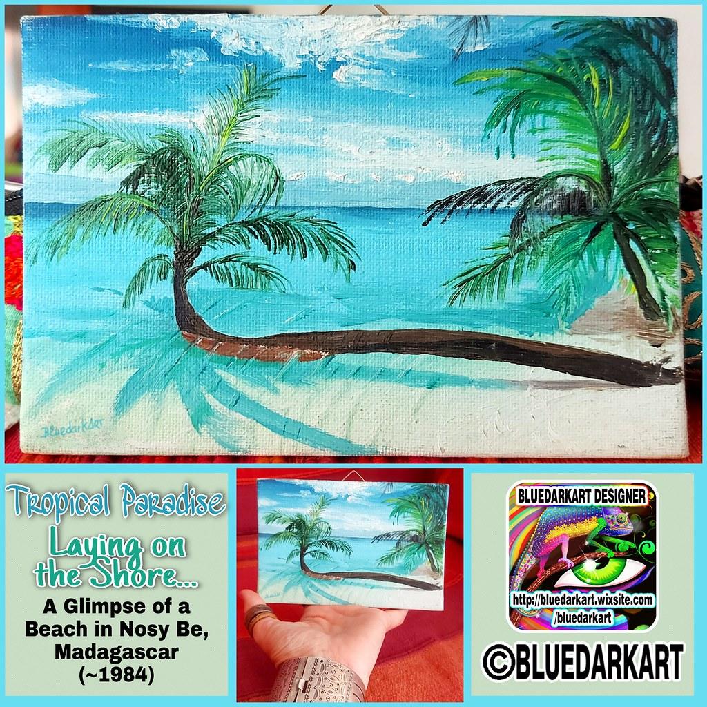 """ Laying on the Shore"" - Oil on Canvas ©️ BluedarkArt"