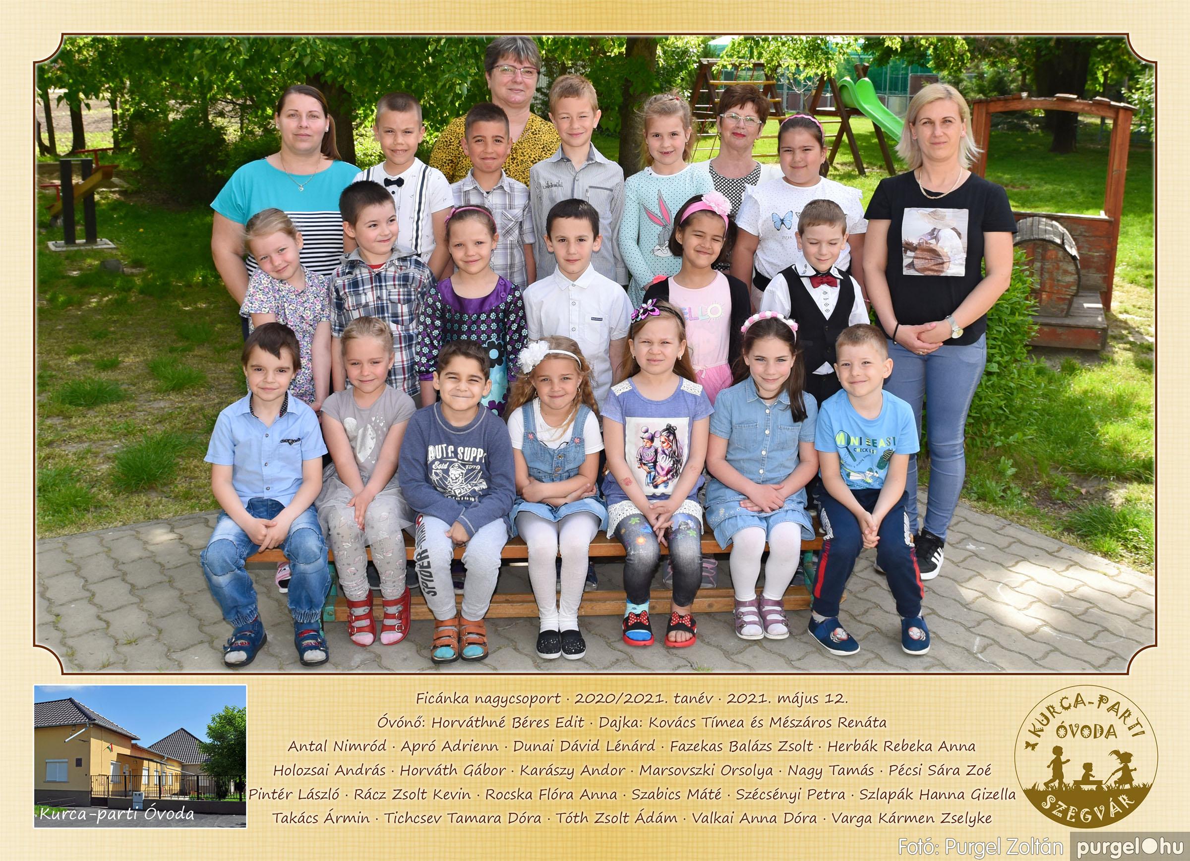 2021.05.12. 002 Kurca-parti Óvoda csoportképek 2021. - Fotó:PURGEL ZOLTÁN© Ficánka csoport.jpg