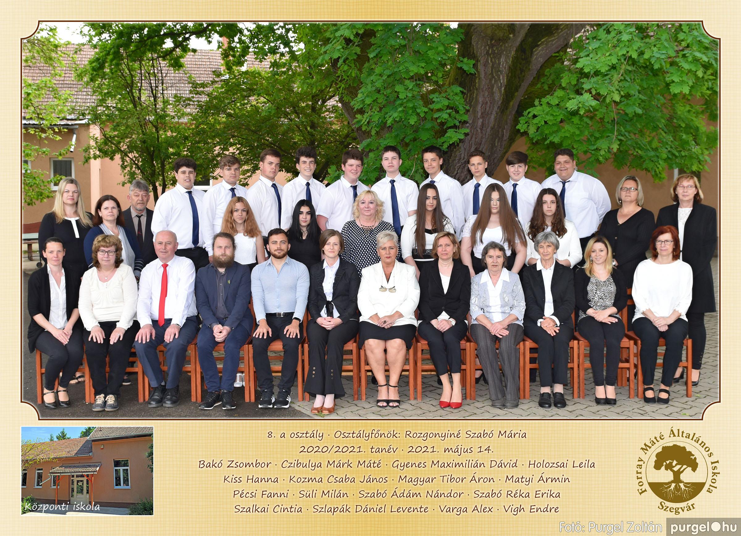2021.05.13-06.12. 009 Forray Máté Általános Iskola osztályképek 2021. 8.a osztály - Fotó:PURGEL ZOLTÁN©.jpg