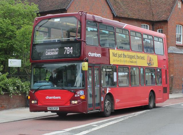 Go Ahead . Konect Bus Ltd . 804 YN55PZF . High Street , Colchester , Essex . Wednesday morning 26th-May-2021 .