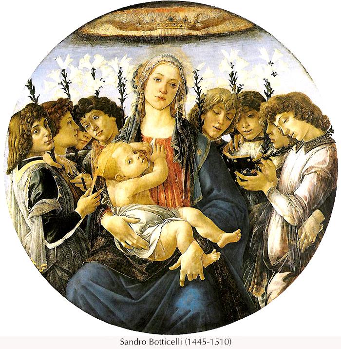 La Virgen María con ángeles, Sandro Boticelli