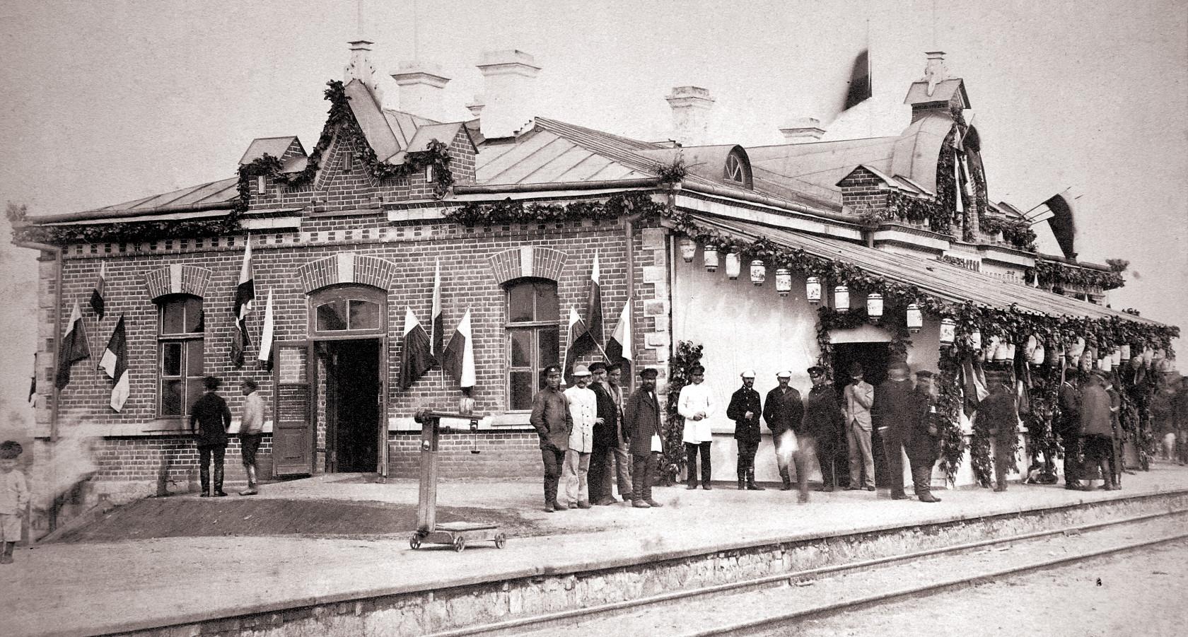 Станция Никольское. Открытие нового вокзала