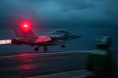An EA-18G Growler attached to Electronic Attack Squadron (VAQ) 141 launches from USS Ronald Reagan (CVN 76), June 14. (U.S. Navy/MC1 Devin M. Langer)