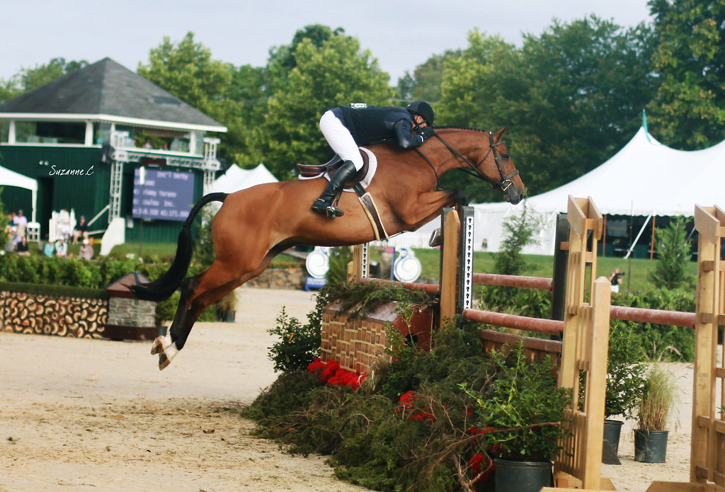 Jimmy Turano and Lasanko over the high option in the $25,000 International Hunter Derby
