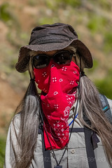 Karen Rentz with Covid Mask on High Rock Lookout Trail