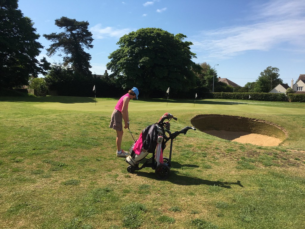 Anna Ducharme practising her chipping!