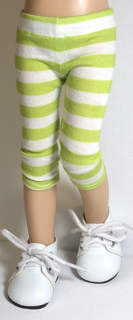 Key Lime Stripes… Leggings For Paola Reina Dolls...