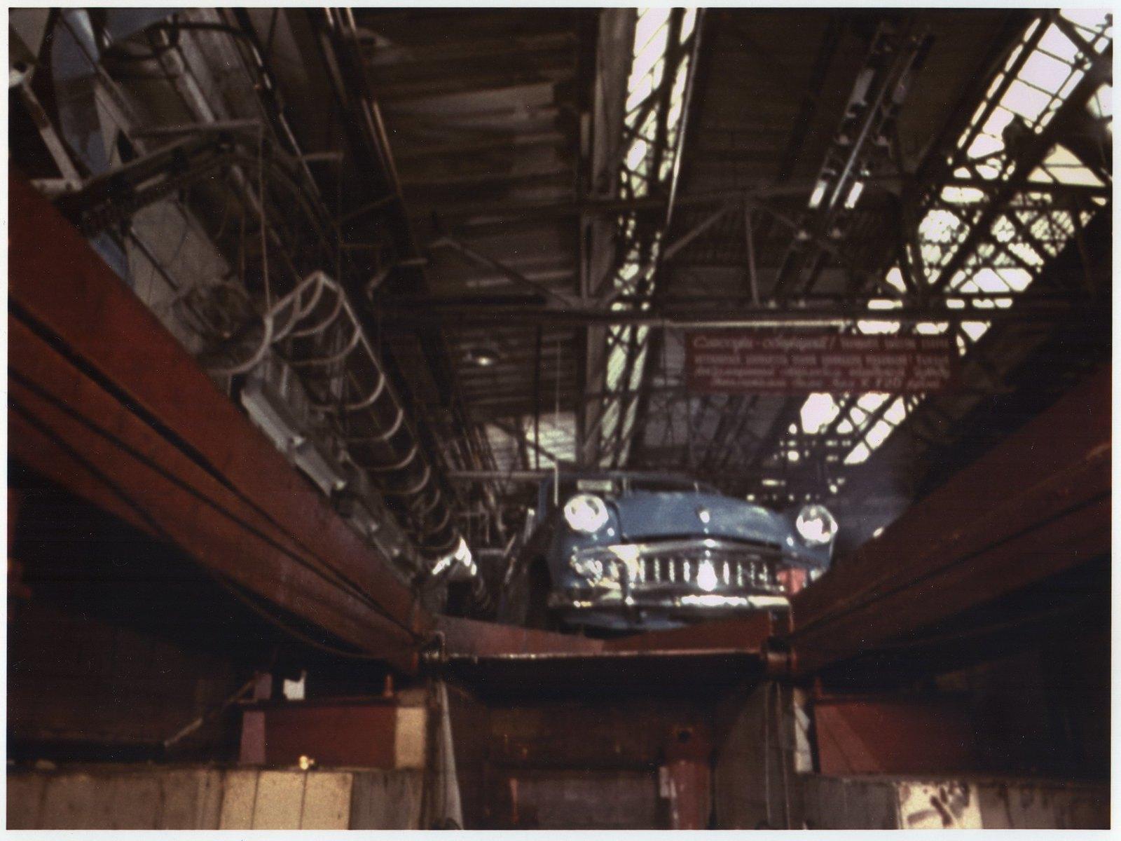 1961. Конвейер автозавода «Москвич»