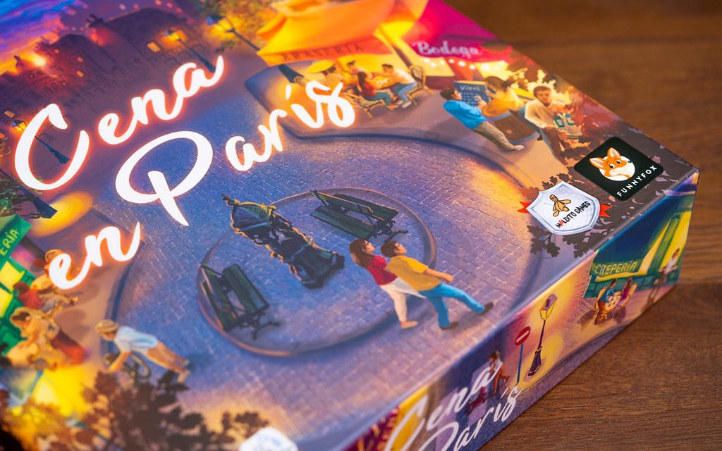 Cena en París boardgame juego de mesa