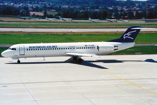 Montenegro Airlines | Fokker 100 | YU-AOK | Zurich Kloten