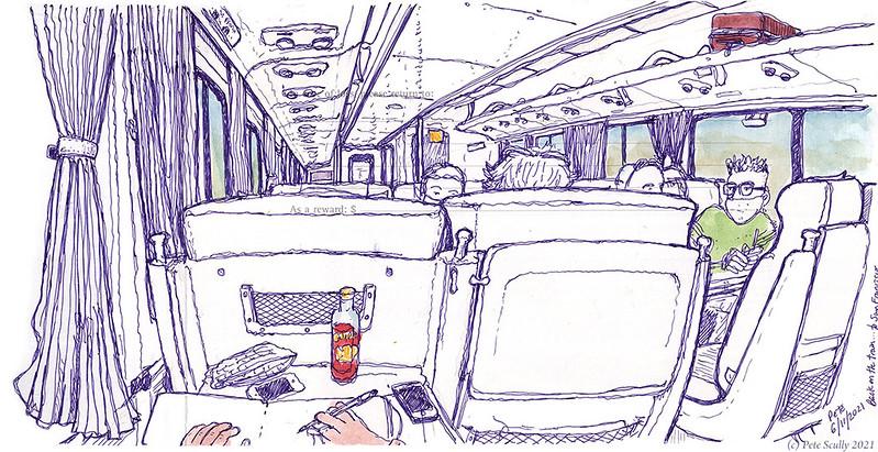 061121 Amtrak train to Emeryville