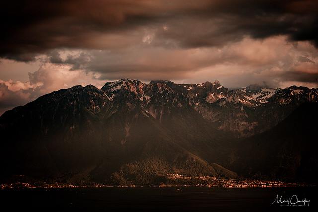 Les Alpes derrière le Léman